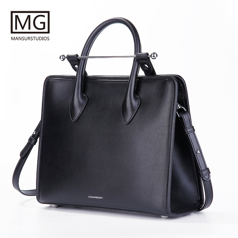 Mansurstudios Women genuine leather lady Bag , lady fashion leather shoulder Bags, midi tote bag,free shipping free shipping hot promotion top sale women embroidered embroidery bag lady party carry bags traveller bag holder
