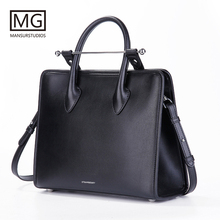 Mansurstudios Women genuine leather lady Bag  , fashion shoulder Bags, midi tote bag,free shipping