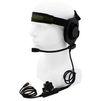 HD01 Z Tactical Bowman Elite II Headset with U94 Style PTT 2pin for baofeng UV 5R UV 82 BF 888S BF F9 TYT KG UV8D free shipping