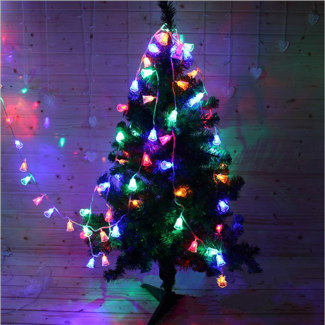 5M 20LEDs Christmas Bell Led String Solar Powered Fairy String Lights Lamps For Holiday  ...