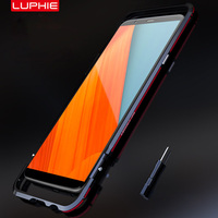 LUPHIE For Oneplus 5T Case Aluminum Metal Frame Case Dual Color Bumper Cover For Oneplus 5T