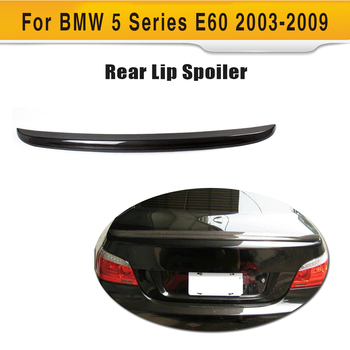 Carbon Fiber Car Trunk Boot Spoiler Wing Fit For BMW 5 Series E60 2003-2009 image