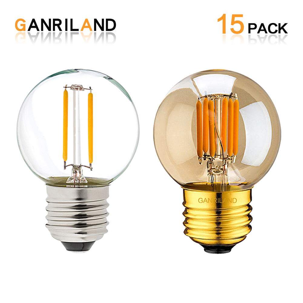 ganriland edison led bulb e27 retro lamp g40 vintage. Black Bedroom Furniture Sets. Home Design Ideas