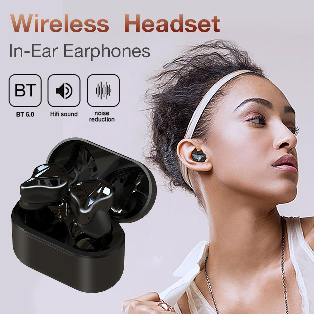 <font><b>T8</b></font> <font><b>TWS</b></font> Bluetooth 5.0 Earphone Half-In-Ear True Wireless Earphone Earbuds Auto Pairing Built-in Mic Headset With Charging Case image