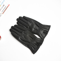 2017 fashion women's leather gloves spring and autumn gloves sheepskin gloves elegant temperament