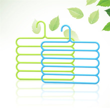 1PC 5 Layers Trousers Hanger Rack Bathroom Kitchen organizer Pants Holder Tie Rack for Clothes Hanger OK 0878