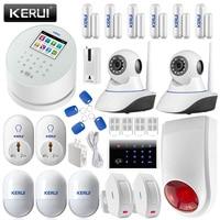 Intelligent KERUI W2 APP Remote Control Wifi GSM PSTN Line Home Alarm System Linkage WIFI Ip