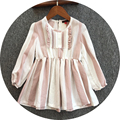 Free Shipping 5pcs/lot 3-8yrs Baby Girl's Linen Cotton Dresses