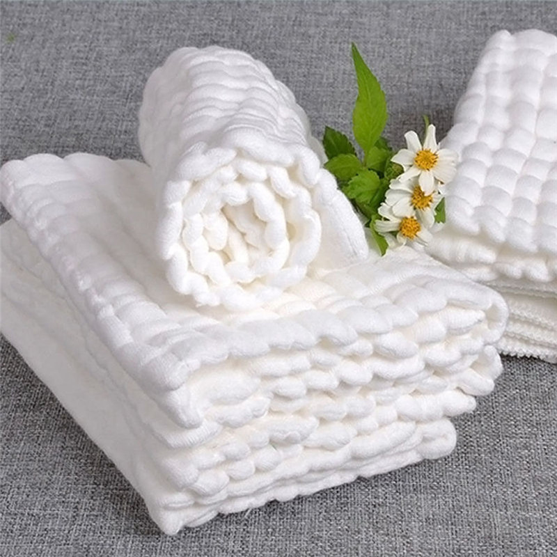 Baby Soft Cotton Bath Towels Gauze Solid New Born Baby Towels Ultra Soft Strong Water Absorption Baby Care Portable Towel
