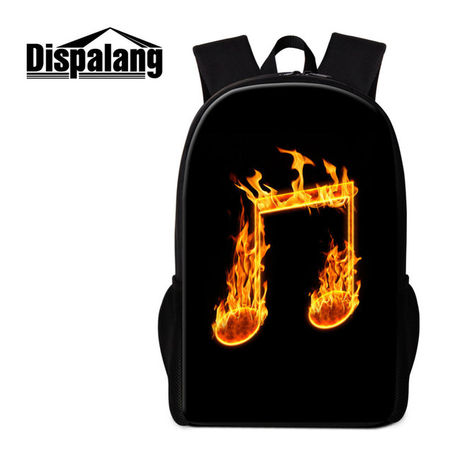 Dispalang Music Note Printing Backpack Women Men Bookbags Kids School Bags  for Teenagers Girls School Backpacks Bagpack Backbag-in Backpacks from  Luggage ... a98158e3f7f41