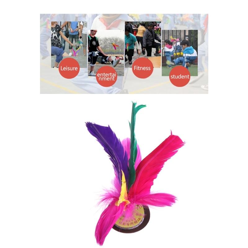 Китай Jianzi Footbal ноги кик маховик Необычные Волан из гусиных перьев фитнес