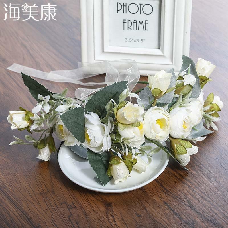 Women Flowers Wreath Bridal Crown Headband Handmade Kids Party Hair Bands Korean Hair Accessories Adjustable Floral Garlands