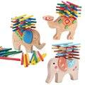 2017 Новый Слон/Верблюд Баланс Деревянные Игрушки для Детей Деревянные Блоки Игрушки Игры Для Детей игрушки Монтессори