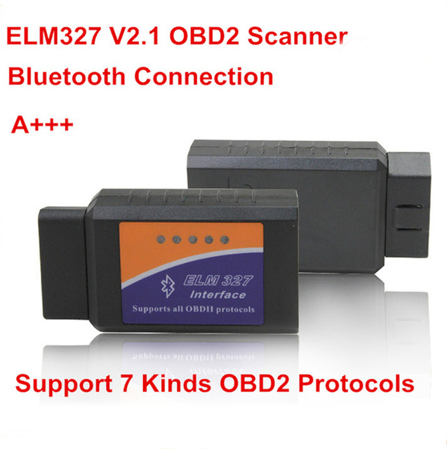 ELM327 V2.1 Auto Scan Tool Supports Android and for iOS Bluetooth OBD2/OBD II Car Diagnostic Scanner