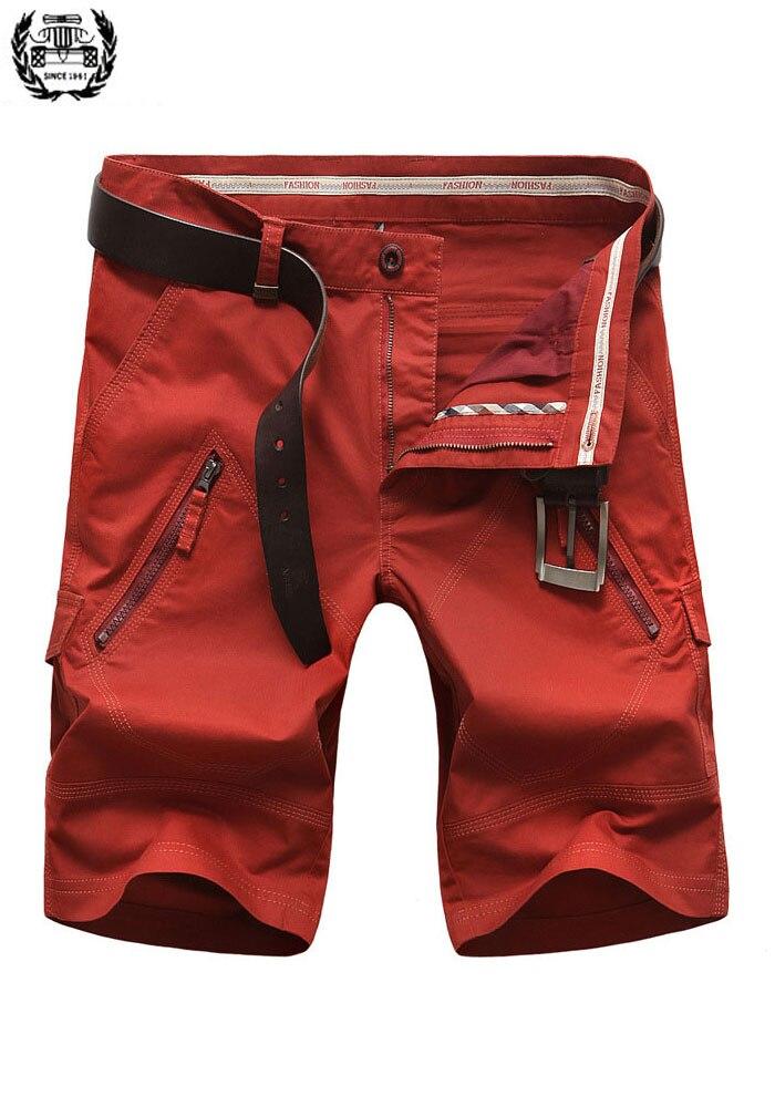2019 30~42 Size Plus Size Brand Clothing CLOTHES Straight Men's Shorts 4 Color Cotton Summer Men's Casual Shorts Pocket