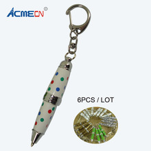 Free shipping 2014 New Item 6pcs Hot sale and Novelty Design Mini Crystal Pen