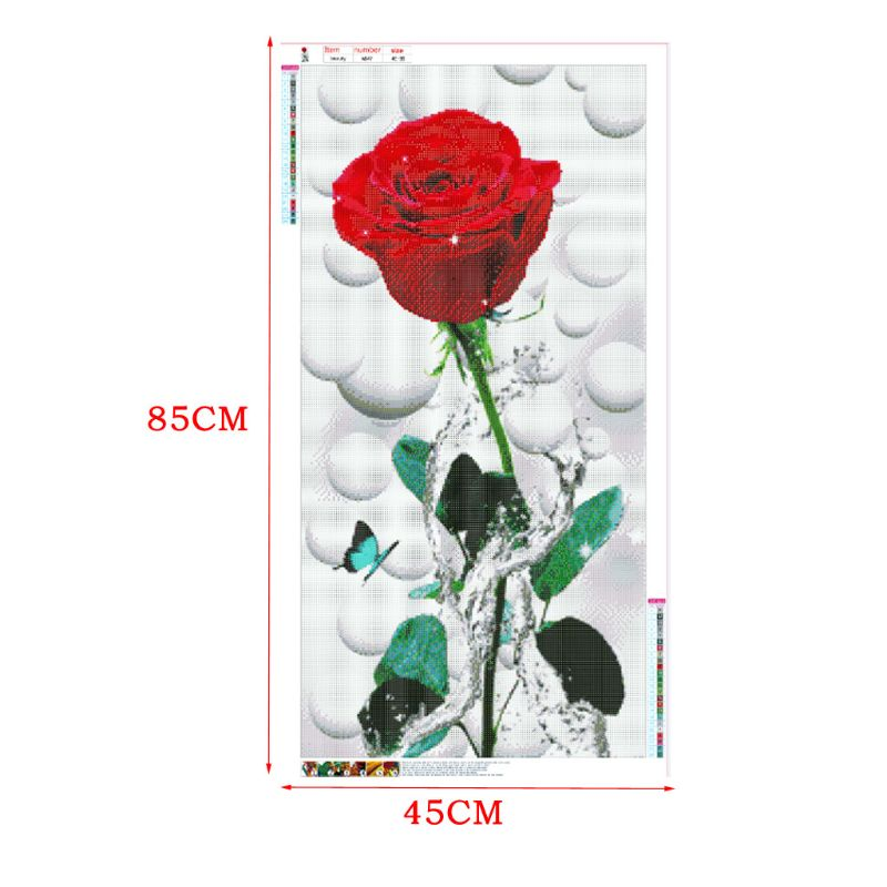 Rose Flower 5D Full Drill Diamond Painting Embroidery Cross Stitch Kit Rhinestone Home Decor Craft in Diamond Painting Cross Stitch from Home Garden