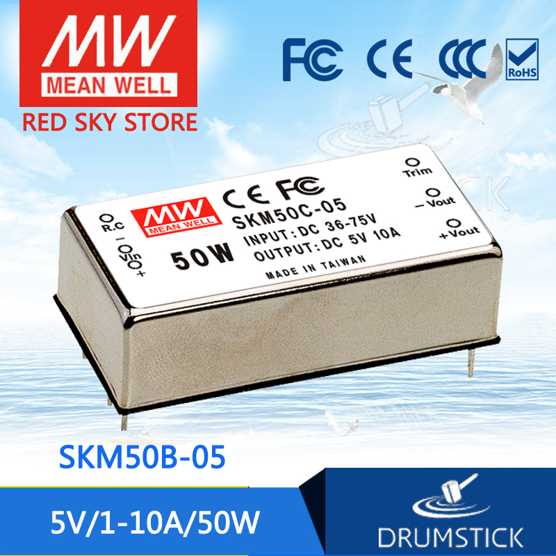 Advantages MEAN WELL SKM50B-05 5V 10A meanwell SKM50 5V 50W DC-DC Regulated Single Output Converter gj303 rhinestones 316l stainless steel couple s ring black silver size 9 7 2 pcs