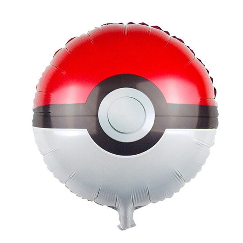 2 unids/lote 18 pulgadas pokemon pokeball orbz bola niños brithday decoraciones