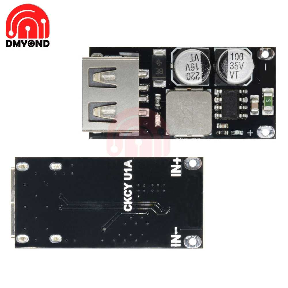 small resolution of usb dc dc buck converter car charger step down module 8v 32v to 5v