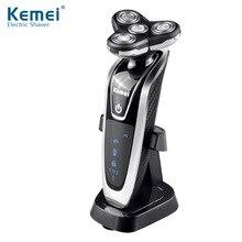 Kemei новое подразделение 3 в 1 Многофункциональный электробритва бритва моющийся поворотный четыре сегмент Водонепроницаемый 6 этап Smart KM-8871
