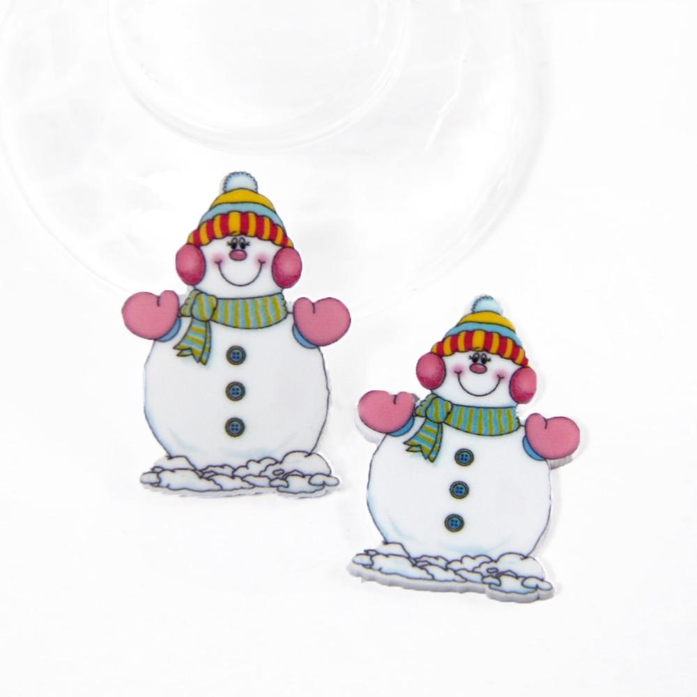 Рождество Снеговик Санта Пингвин плоской задней плоское украшение из смолы diy праздник украшения интимные аксессуары 25 шт., ручной работы, 25Yc563