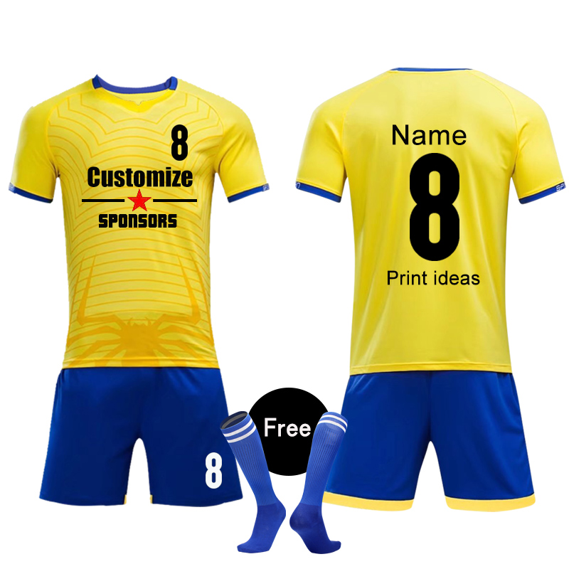7c2edd5d1 2018 Adult Kids Custom Soccer Jerseys Set Uniforms Football clothes Kit  Cheap College Football Shirt Tracksuit-in Soccer Sets from Sports    Entertainment on ...