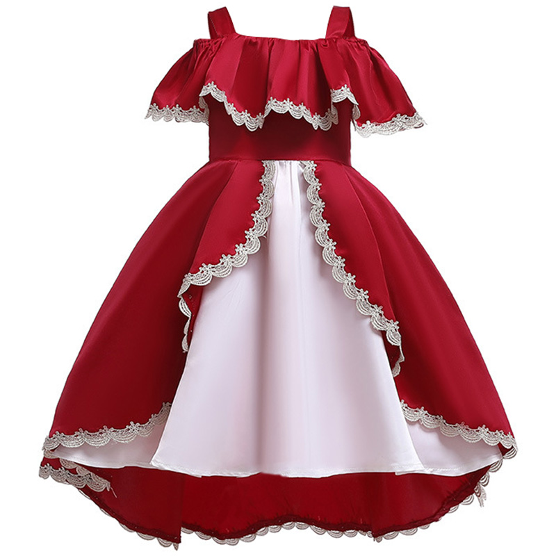 Flower Girl Baby's Birthday Banquet Party With Petal Dresses New Style Children's Princess Campus Graduation Ball Dresses 2019