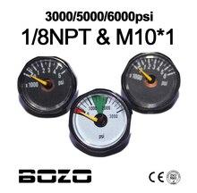 Paintball Airsoft PCP Luftgewehr Mini 25mm 3000psi 5000psi 6000psi Manometer Manometer 1/8NPT M10 * 1