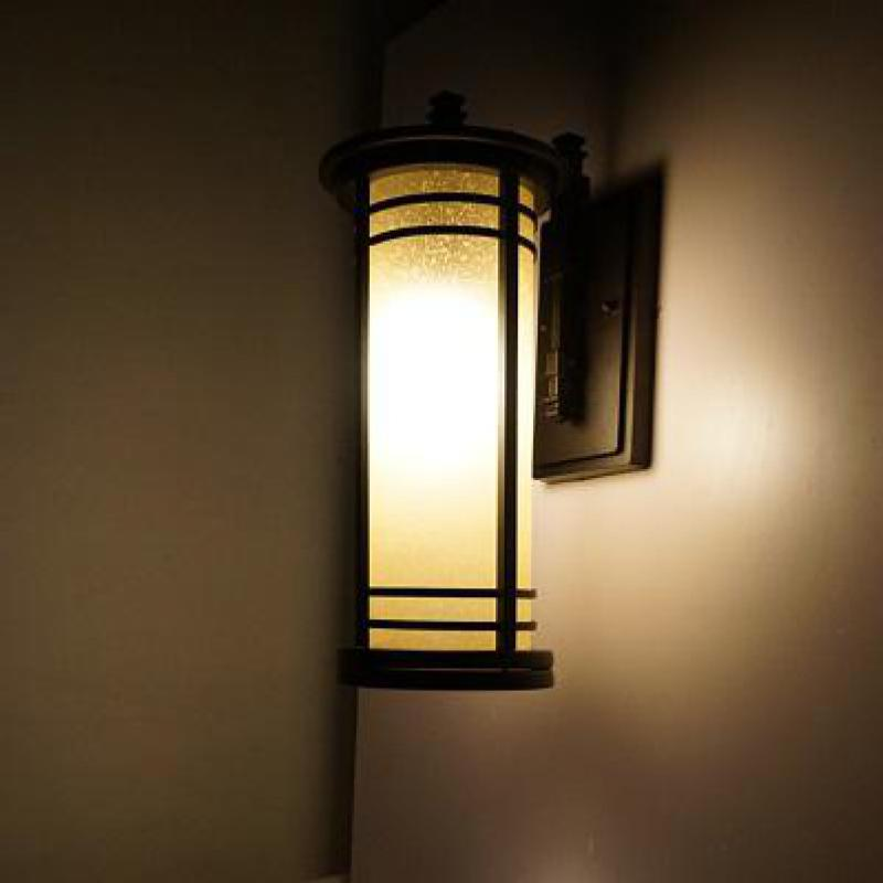 free shipping vintage outdoor wall lamp abajur chinese style glass
