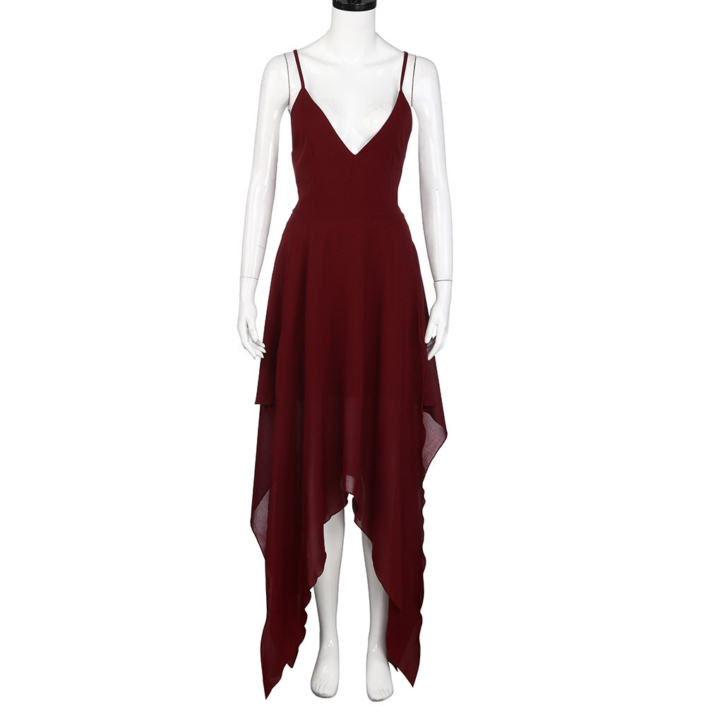 2019 Plus Size Woman Dress Elegant Casual Formal Dress Chiffon Fit and Flare Party Cocktail Casual Beach Dresses