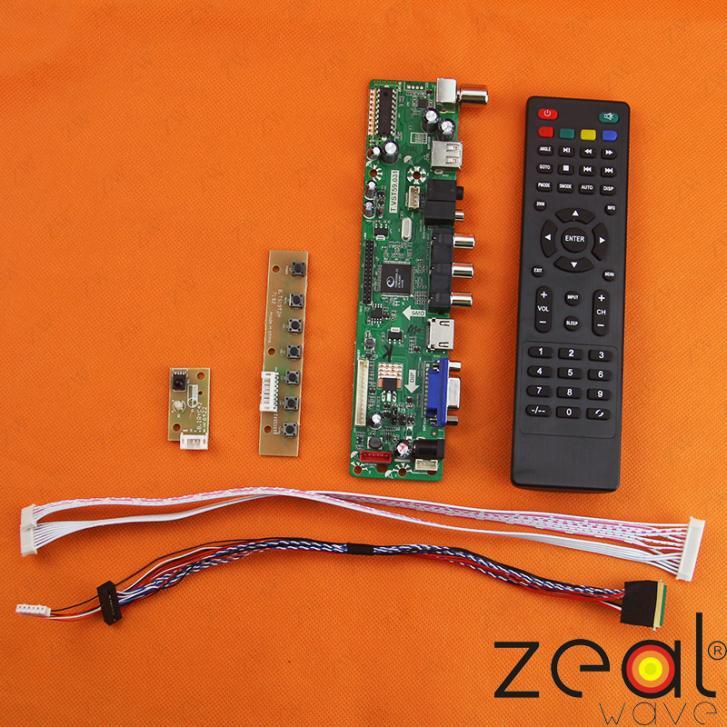 TV HDMI VGA USB CVBS RF LCD Controller Board For 8.9inch LP089WS11024*600 vga hdmi lcd controller board for lp156whu tpb1 lp156whu tpa1 lp156whu tpbh lp156whu tpd1 15 6 inch edp 30 pins 1 lane 1366x768