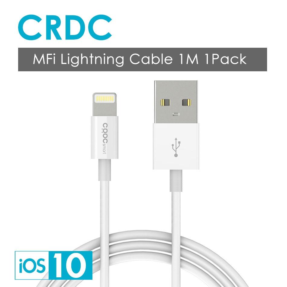 [Para MFi iPhone Cable iOS 10 9], Cable USB CRDC para Lightning a USB 2.1A Cable cargador USB rápido para iPhone 7 6 s 6 s iPad mini 2 3