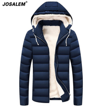 2017 Winter Warm Parkas Men Jackets Thick Hooded Coats Man Fleece Cotton Padded Outerwear Male Brand Clothing Plus Size 4xl