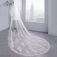 Voile Mariage 2 Layers Lace Appliques 3.5M Long Wedding Veils 2019 White Ivory Bridal Veils With Comb Wedding Accessories