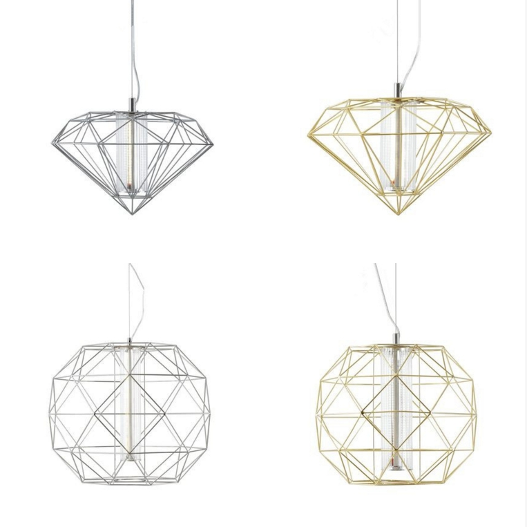 Italy Modern Designer Diamond Creative Art  Pendant lamp  Living Room Bedroom Dining Room Fashion Bar Led Decorative A308 a1 led living room dining modern pendant lights ring fashion personality creative pendant lamp art bedroom hall pendant lamps