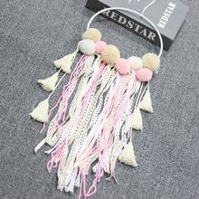 New Girl Simple Handmade Wind chimes Dreamnet Creative Feather Hanging  Gift Home Decoration Crafts Colorful