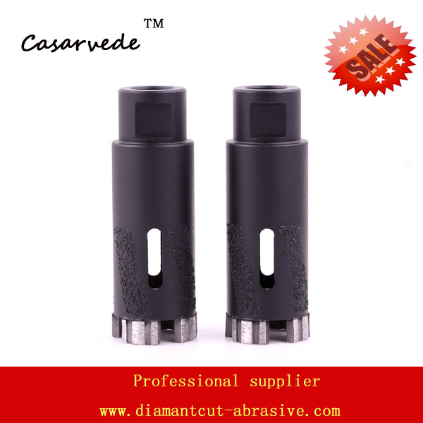 Hole saw 1-3/8'' diamond core drill bits for drilling stone with Vacuum Brazed Inside and Outside protection