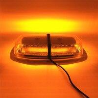 Amber LED car flash Warning Lights Vehicle Police LED Flashing Beacon Strobe Emergency Lamp with Magnetic Mounted 12V~24V