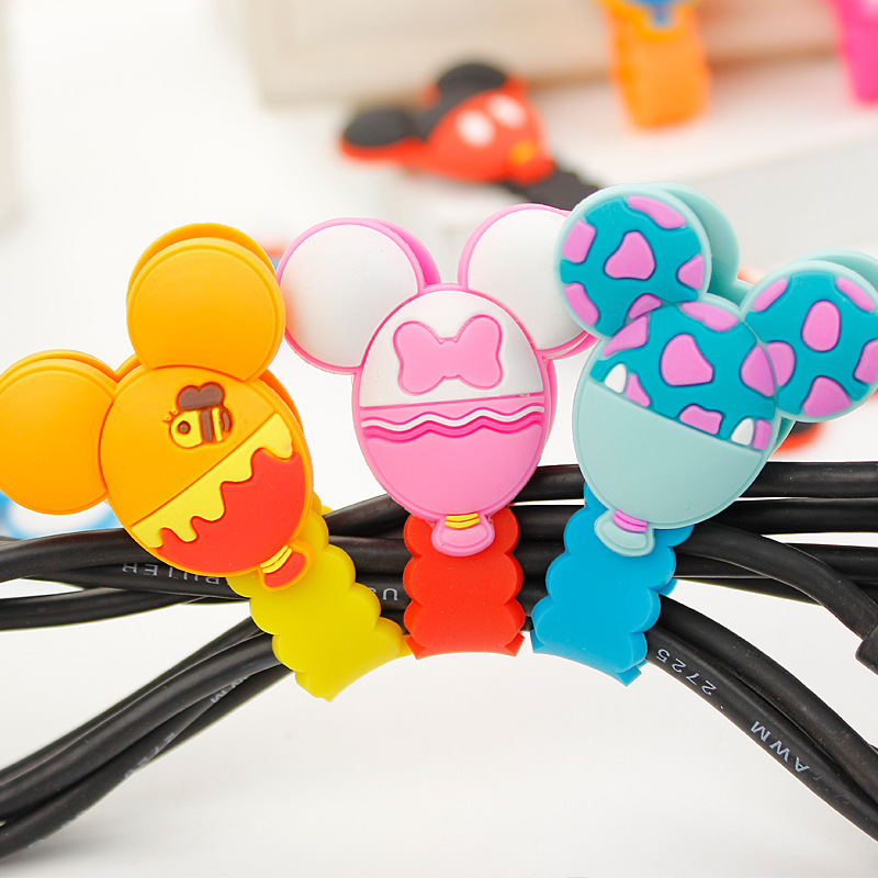 30pcs/lot 2016 New Cartoon Model Headphone Cord Holder Earphone Cable Wire Organizer USB Charger Cable Winder Best Gift
