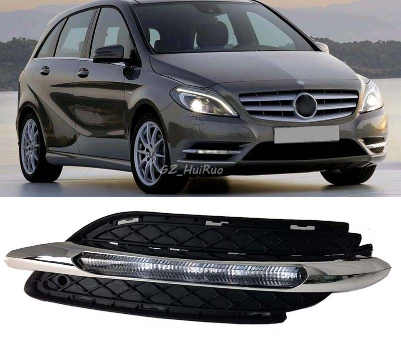 For Mercedes-Benz W246 B180 B200 2011-2014 Car DRL LED 12V Daytime Running Lights Turn Signal bar daylight lamps auto fuel filter 163 477 0201 163 477 0701 for mercedes benz