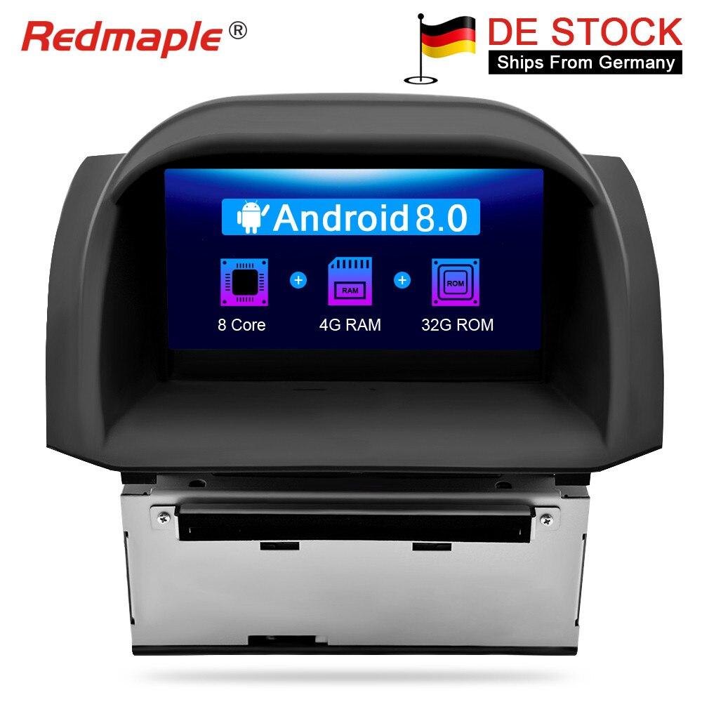 Octa Core Android8.0 Voiture Lecteur DVD GPS de Navigation Multimédia Stéréo Pour Ford Fiesta 2014 2015 Auto Radio Audio Headunit 4G