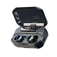 Worallymy Bluetooth Earphone Mini Earphone Intelligent Noise Reduction Wireless Headset Power Bank Phone Bracket Charging Box