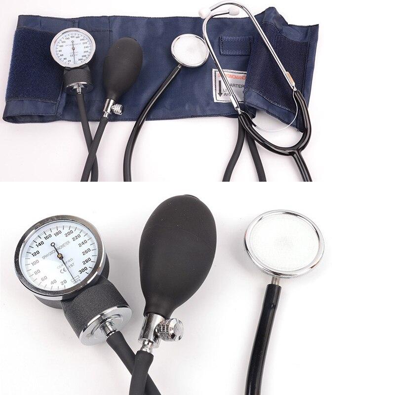 Manual aneroid sphygmomanômetro medidor de monitor pressão arterial tonômetro manguito medida dispositivo com estetoscópio casa médica