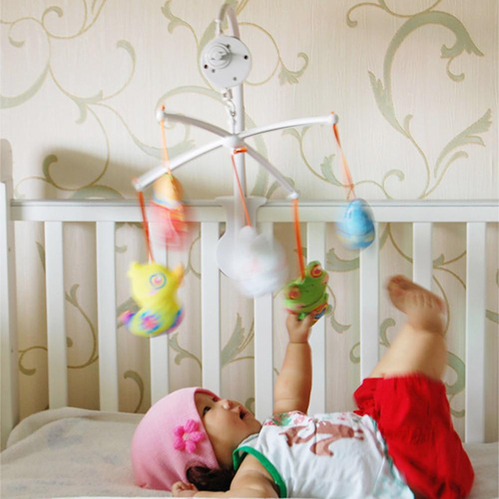 72cm <font><b>Baby</b></font> Bed Hanging Rattles <font><b>Toys</b></font> Hanger DIY Simple Fun Li <font><b>Crib</b></font> Mobile Bed Bell <font><b>Toy</b></font> <font><b>Holder</b></font> 360 Degree Rotate Arm Bracket Set image