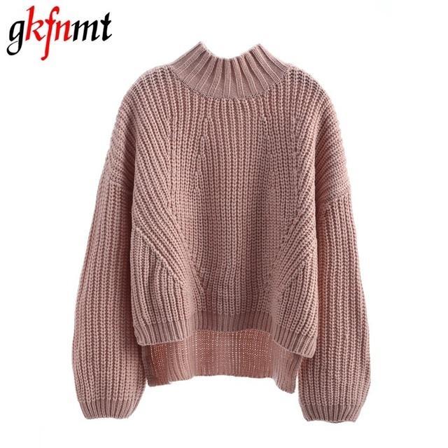 Aliexpress.com : Buy Gkfnmt Turtleneck Thick Knitted Sweater ...