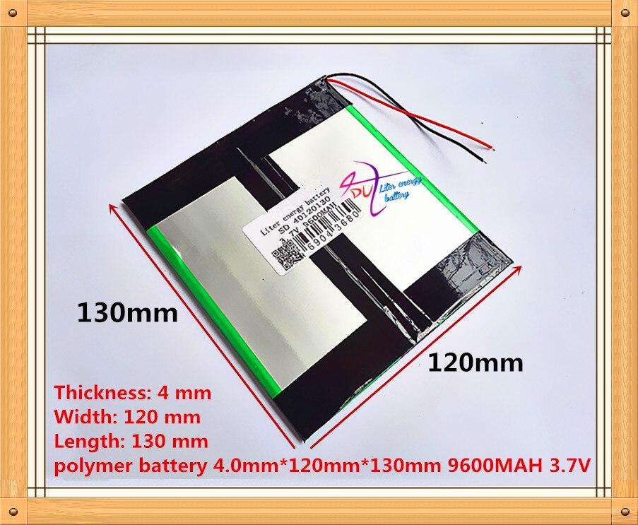 3.7 v 9600 mah 40120130 (capacidade real) li-ion bateria pilha para 9.7