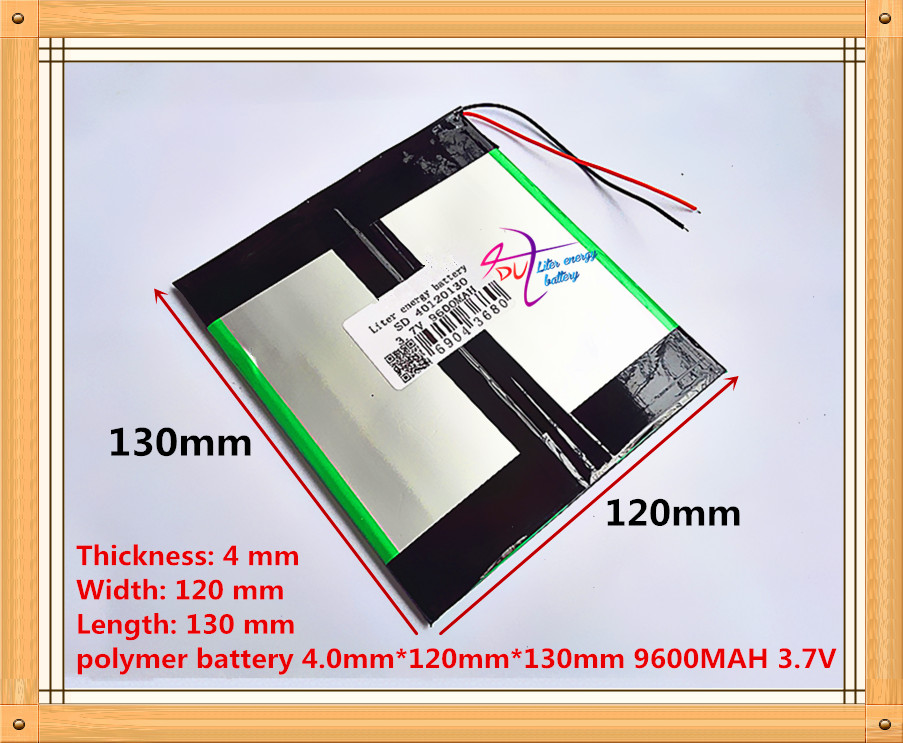 3.7V 9600mAH 40120130 (Real Capacity) Li-ion Battery Battery Cell For 9.7
