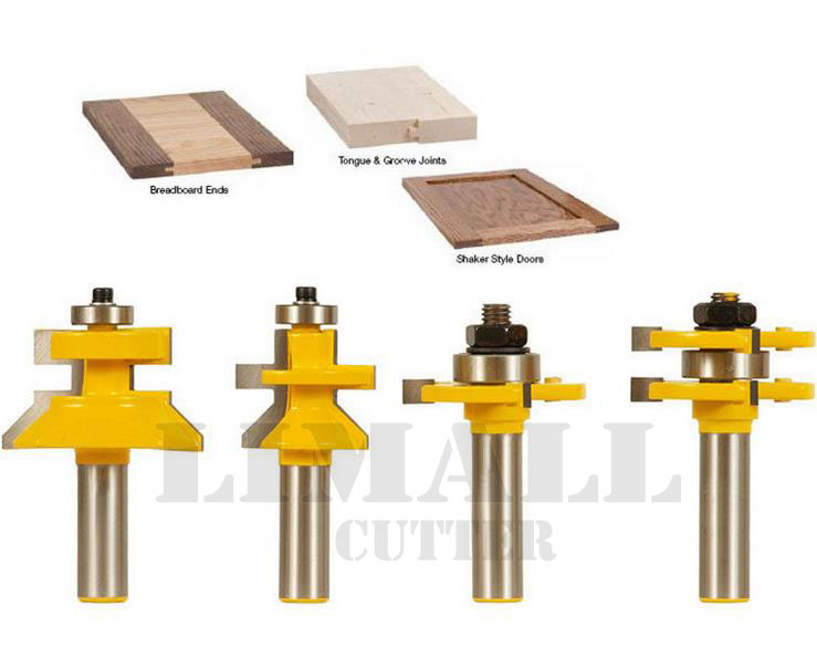 4Piece/sets Tenon Cutter Bit Plate Floor Woodworking Milling Cutter
