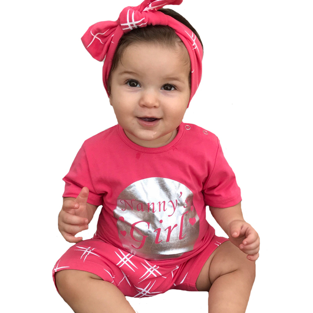 Summer Baby Girl Clothing Sets 2017 New Cute Letter Boy Clothes Outfits Stars Crown T-shirt+Harem Shorts 2pcs Kids Clothing Set